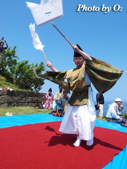 上ノ国町 夷王山神社・神楽舞い奏上
