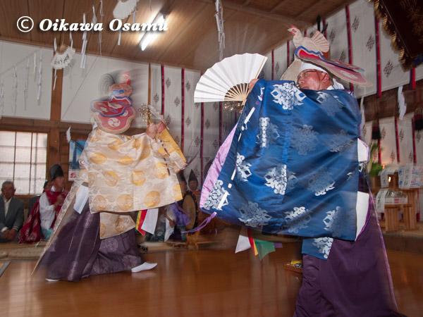 有川大神宮本祭 二羽散米舞 2005