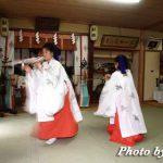 福島町・福島大神宮社務所内で八乙女舞の練習