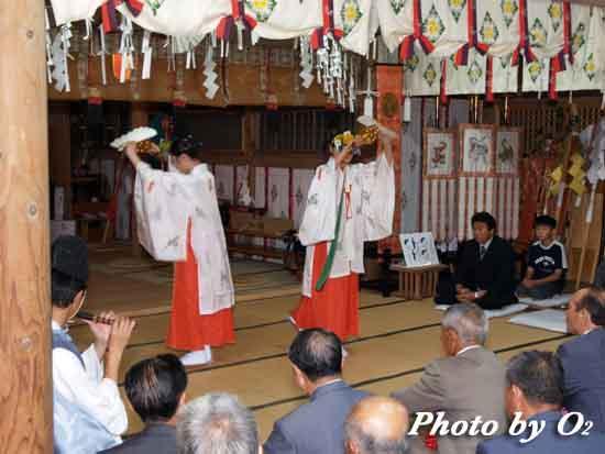北海道 函館市 尻岸内八幡神社 松前神楽 鈴上舞