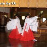函館市・函館八幡宮宵宮祭 御神楽「豊栄の舞」(平成19年)
