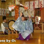 函館市・上湯川稲荷神社宵宮祭「福田舞」(平成19年)
