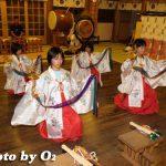 函館・湯倉神社「浦安の舞い練習その2」(平成19年)