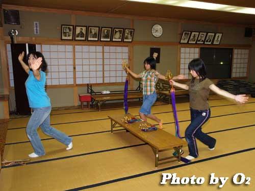 平成19年 湯倉神社 浦安の舞 練習風景2