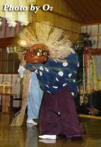 平成19年 北斗市 上磯八幡宮例祭 十二の手獅子舞・五方