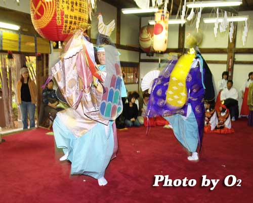 平成19年 小樽市 小樽ブロック合同公演 小樽稲荷神社 二羽散米舞
