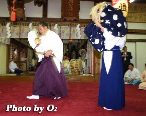 平成19年 小樽市 小樽ブロック合同公演 小樽稲荷神社 十二の手獅子舞 御稜威舞