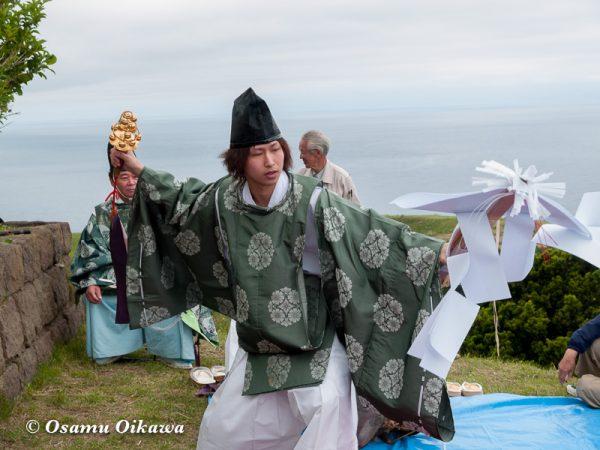 平成20年 上ノ国町 夷王山神社本祭 神楽舞 御幣舞