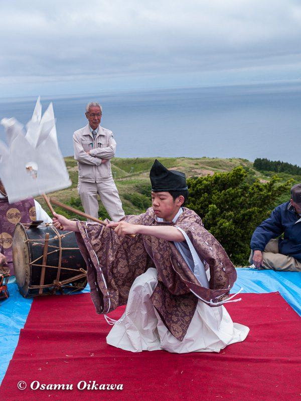 平成20年 上ノ国町 夷王山神社本祭 神楽舞 番楽