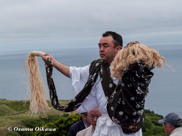 平成20年 上ノ国町 夷王山神社本祭 神楽舞 獅子舞