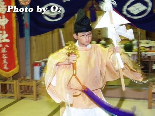 平成20年 北海道 江差町 かもめ島まつり 厳島神社例祭 神楽舞 御幣舞