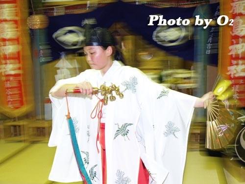 平成20年 北海道 江差町 かもめ島まつり 厳島神社例祭 神楽舞 鈴上