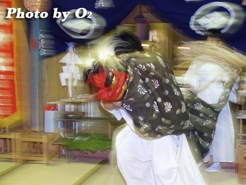 平成20年 北海道 江差町 かもめ島まつり 厳島神社例祭 神楽舞 獅子舞