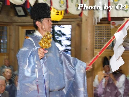 平成20年 函館市 尻岸内八幡神社 松前神楽 榊舞