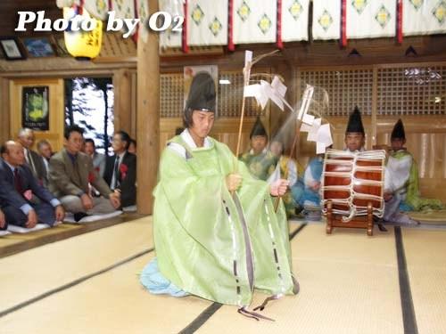 平成20年 函館市 尻岸内八幡神社 松前神楽 福田舞
