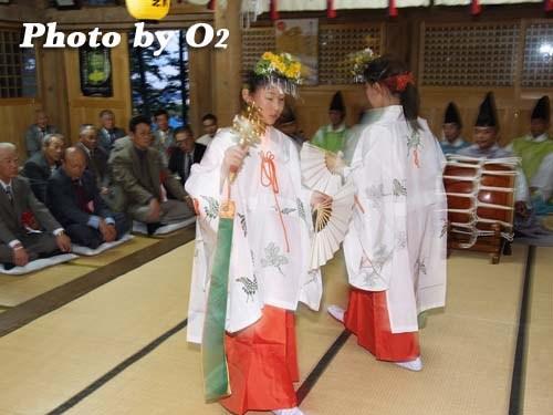 平成20年 函館市 尻岸内八幡神社 松前神楽 鈴上舞