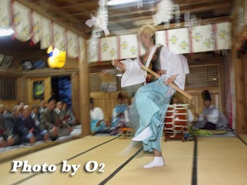 平成20年 函館市 尻岸内八幡神社 松前神楽 山神舞