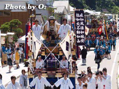 北海道,江差町,姥神大神宮渡御祭,北海道遺産,祭り,神社,平成20年,上町巡行,山車,先山車から後ろ