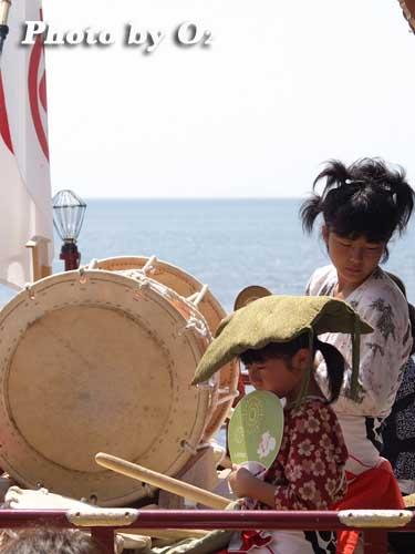 北海道,江差町,姥神大神宮渡御祭,北海道遺産,祭り,神社,平成20年,下町巡行,子供