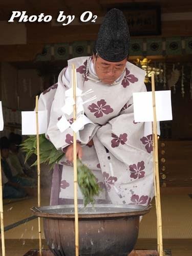 平成20年 鹿部町 本別稲荷神社 松前神楽 鎮釜湯立式2