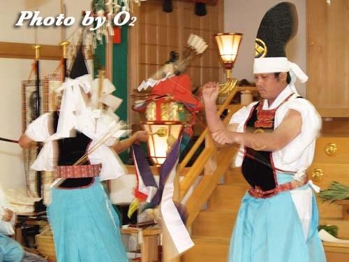 平成20年 鹿部町 本別稲荷神社 松前神楽 神遊舞