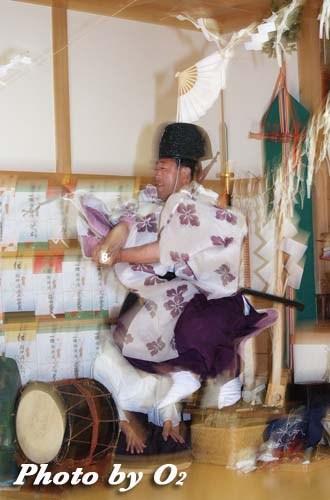平成20年 鹿部町 本別稲荷神社 松前神楽 注連祓舞