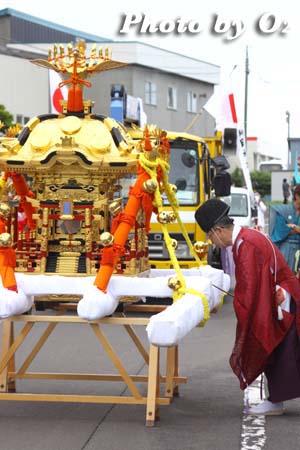 平成21年 古平町 琴平神社例祭 神社行列 宮司 祝詞