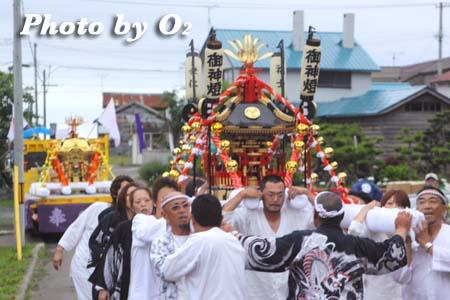 平成21年 古平町 琴平神社例祭 神社行列 神輿