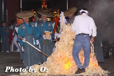 平成21年 古平町 琴平神社例祭 猿田彦 清めの篝火