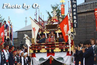 北海道,江差町,姥神大神宮渡御祭,山車,祭り,北海道遺産,下町巡幸,楠公山