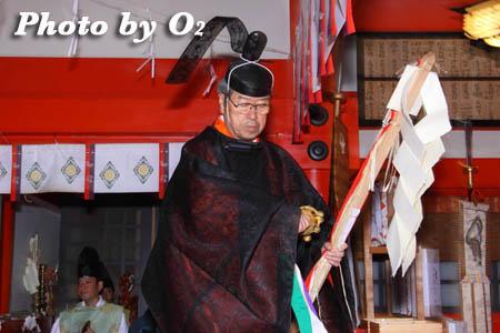 平成21年 函館市 大森稲荷神社 本祭 松前神楽 榊舞