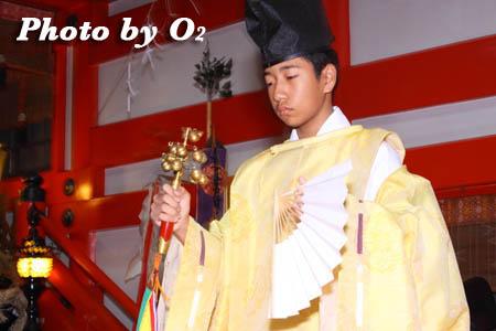 平成21年 函館市 大森稲荷神社 本祭 松前神楽 鈴上舞