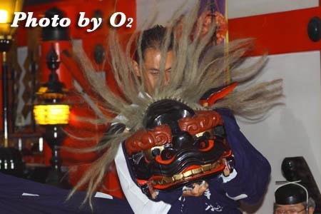 平成21年 函館市 大森稲荷神社 本祭 松前神楽 十二の手獅子舞五方