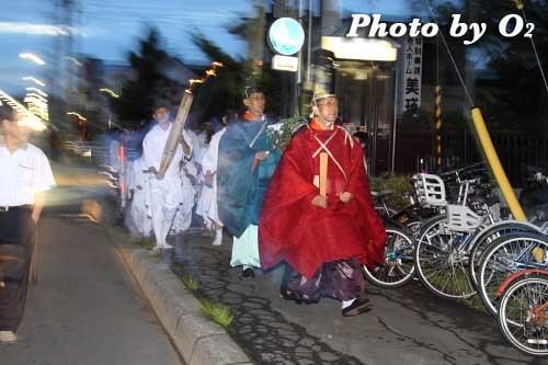 平成22年 美瑛神社宵宮祭 那智・美瑛火祭り 神職移動