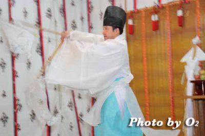 北海道 札幌 札幌村神社 神楽舞 番楽