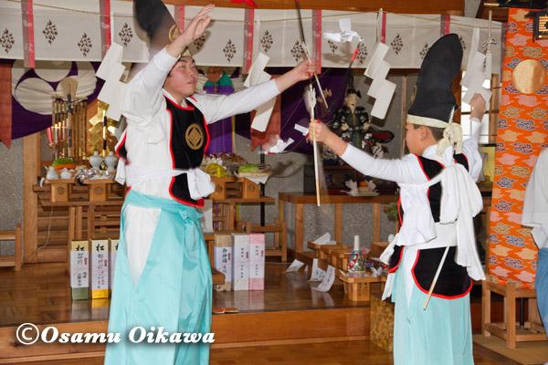 松前町 清部八幡神社 松前神楽 神遊舞 2013