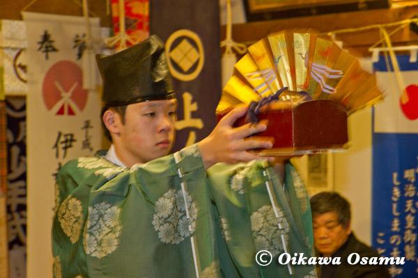 上ノ国八幡宮 初神楽祭 2013