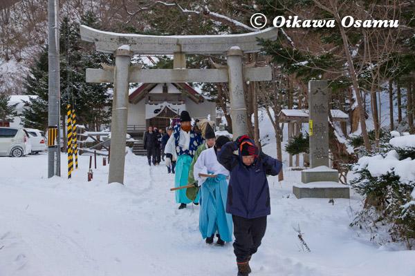平成25年 松前町・原口八幡神社 新年門祓い・歳旦祭 2013