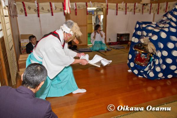 原口八幡神社 獅子舞・面足獅子 2013