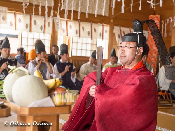 鹿部稲荷神社 2013本祭 鎮釜湯立式