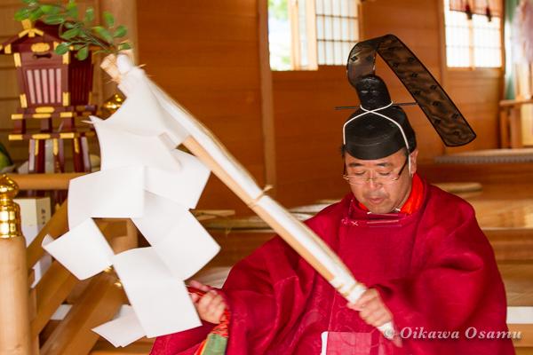 鹿部稲荷神社 2013本祭 榊舞