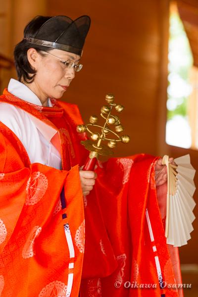 鹿部稲荷神社 2013本祭 鈴上舞