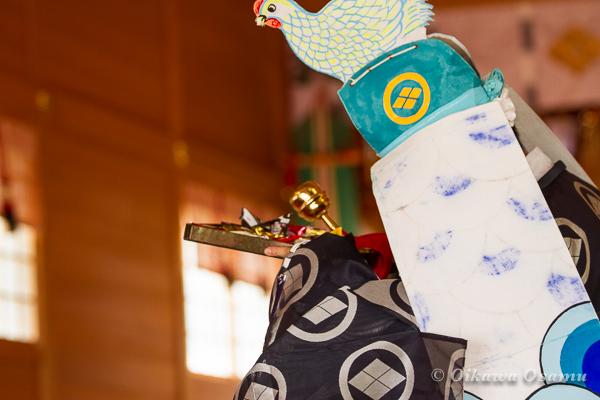 鹿部稲荷神社 2013本祭 二羽散米舞