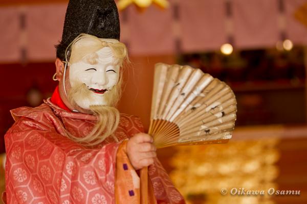 鹿部稲荷神社 2013本祭 翁舞