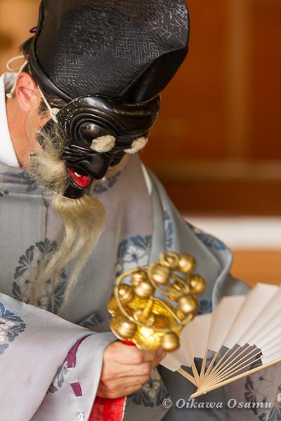 鹿部稲荷神社 2013本祭 三番叟舞