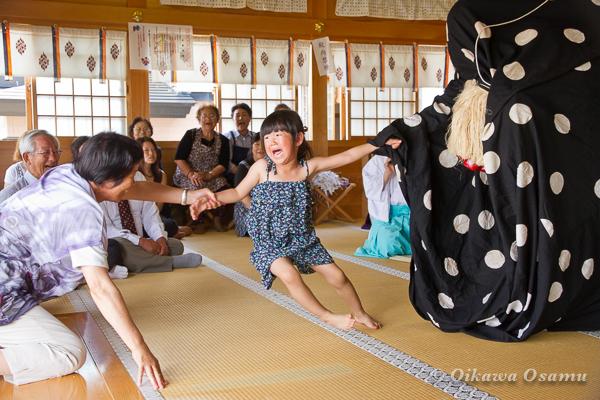 鹿部稲荷神社 2013本祭 十二の手獅子舞・五方