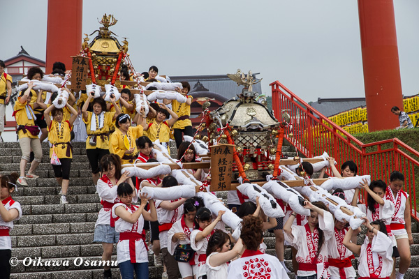姥神大神宮渡御祭 2013 八大龍王神 神輿行列