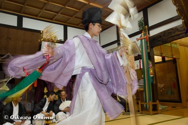 姥神大神宮渡御祭 2013 宵宮 神楽舞