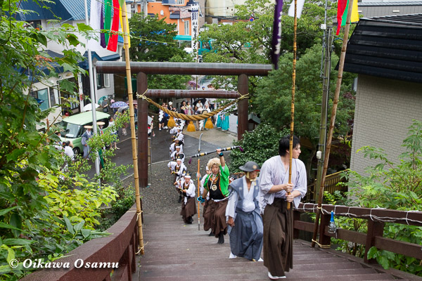 福島町 福島大神宮渡御祭 2013 神社行列 四箇散米行列