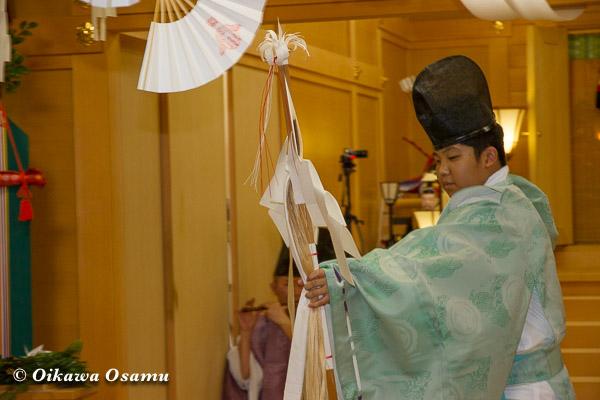 札幌村神社 2013 宵宮祭 神楽舞 御幣舞